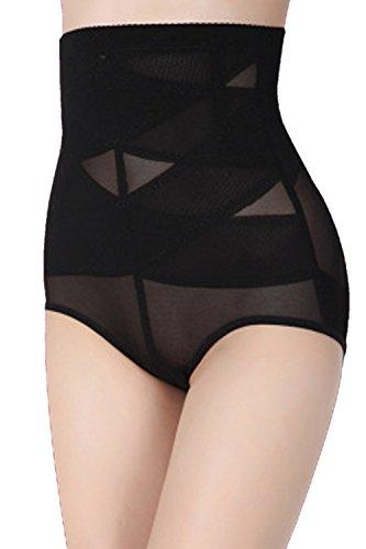 Zinmuwa Damenslip Bauch Kontrolle Shapewear Unterwäsche Schwarz L