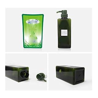 Alamor 1 Stücke 650 Ml Kosmetik Unterflasche Lotion Platz Flasche Shampoo Duschgel Handseife Presse Flasche Große Kapazität - Grün