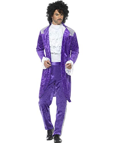 Horror-Shop Purple Rain 80er Jahre Kostüm für Karneval L (Rain Kostüm Prince Purple)