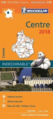 Carte Centre Michelin 2018