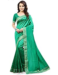 Urban Naari Green Colored Zoya Silk Embroidered Lace Border Saree