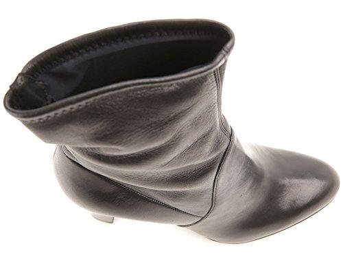 Bootines à talon haut Sergio Rossi femme en cuir noir - Code modèle: A72040 MAF715 1000 Noir