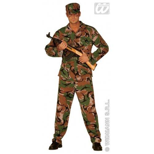 Commando Kostüm Für Erwachsene Größe - Widmann-cs924433/S-Kostüm-Kostüm Commando, Größe