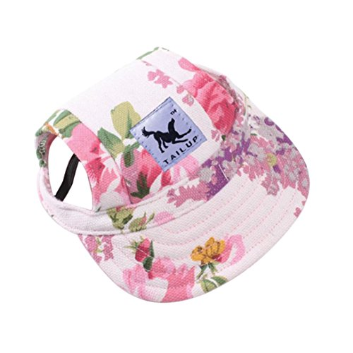 wuayi tailup Small Pet Lässiges Sommer Leinwand Gap Hund Baseball Visier Hat Puppy Outdoor Sunbonnet Gap (Stil Alten Baseball-cap)