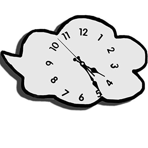 Horloges Les Nuages de Bois Blanc Murale Maison Chambre Jardin muet 16 Pouces