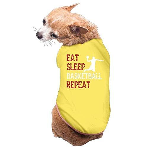 GSEGSEG Hundekleidung, Mantel, Kostüm, Pullover, Weste, für Hunde und Katzen, weich, dünn, zum Essen und Schlafen, Basketball, erhältlich in 3 Größen und 4 Farben (Essen Kostüm Für Hunde)