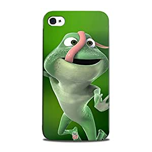 AllDeviceSkin Design-Cartoon-15 Frog after Eating High Quality Print Hard Back Case Cover for Apple iPhone 4S