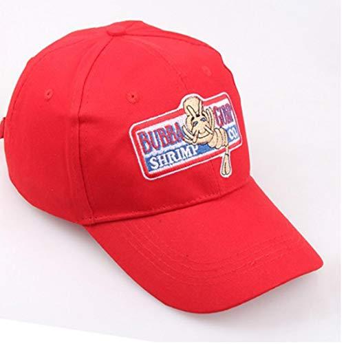 Imagen de ajustable unisex  de béisbol bubba gump shrimp co. bordado curva brimmed snapback del sombrero de las mujeres de los hombres alternativa