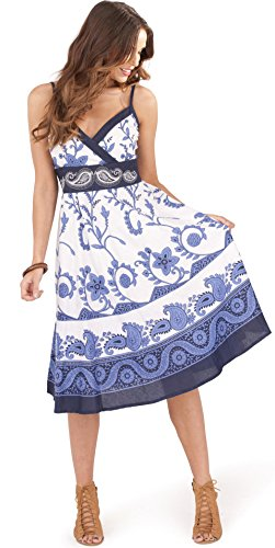 ladies-100-cotton-swirl-floral-print-strappy-mid-length-summer-dress-with-crossover-v-neck-blue-xl