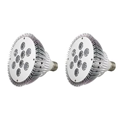 2 X 810LM Auralum E27, 9 W, PAR38, Hi-Power Led Spot Strahler Energiespar-Lampe (Warmweiß) von Temtop auf Lampenhans.de
