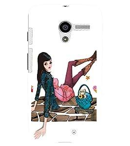 FUSON 3D Designer Back Case Cover for MOTOX D9953