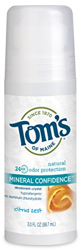Tom's of Maine - Confiance minérale naturelle Déodorant Roll-on de cristal sans parfum - 3 once liquide
