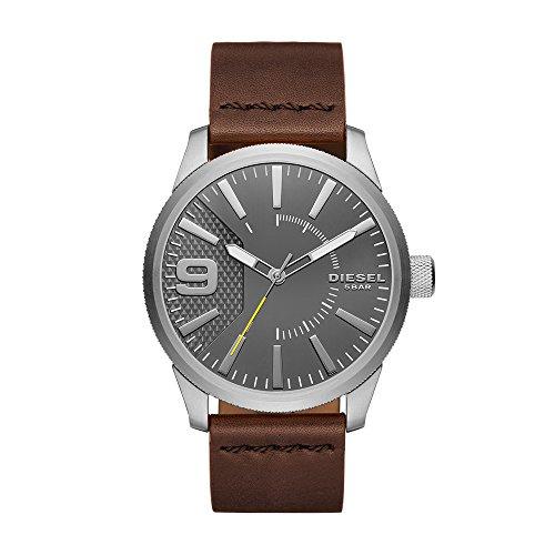 Diesel Reloj Analógico para Hombre de Cuarzo con Correa en Cuero DZ1802
