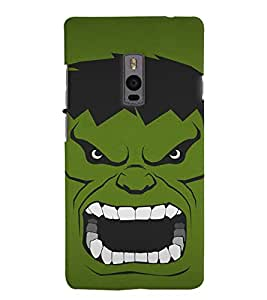 Chiraiyaa Designer Printed Premium Back Cover Case for OnePlus Two 1+2 (Hulk green) (Multicolor)