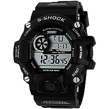 Reloj de pulsera - Skmei Hombre Excelente S-Shock Reloj de pulsera deportivo Resistente al agua Digital Militar negro