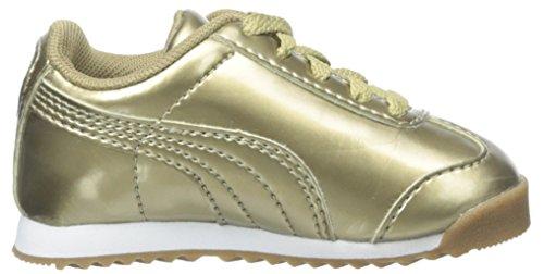 Puma Roma Iri Nbk Jr Cuir verni Baskets metallic gold-white