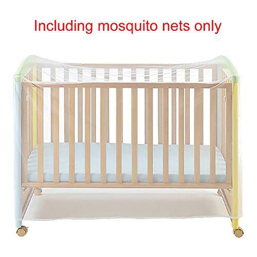 HINMAY Moskitonetz für Kinderbett, Wiege und Kinderbett - Baby Moskitonetz - Katzennetz mit Reißverschluss für schnellen und einfachen Zugang zu Ihrem Baby - Lücke Kordelzug