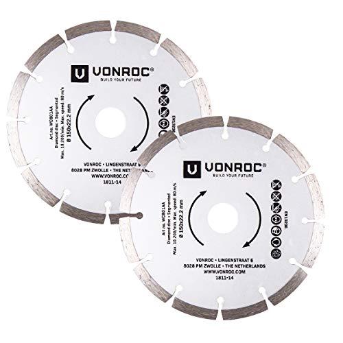 VONROC - Hoja sierra diamante universal 150 mm, 2