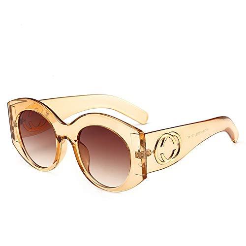 Yangjing-hl Fashion Sonnenbrille Trend Vielseitig Sonnenbrille Street Beat Paar Wear Brille, Tea Frame Double Tea, Einheitsgröße