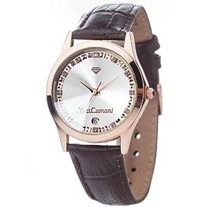 Detomaso Reloj analogico para Mujer de Cuarzo con Correa en Piel 302-GRG