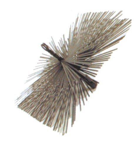 Goupillon pour cheminées 'Cadre' en acier plat. Pour la Nettoyage de ramonage. Mâle 12 Mais.