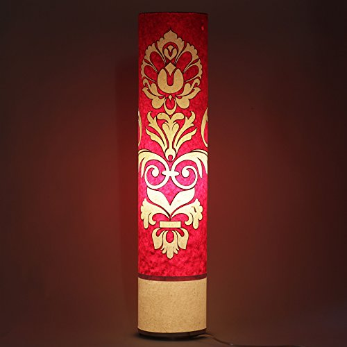 engineered-design-red-white-paper-shade-indoor-floor-lamp-bed-dining-room-decorative-light