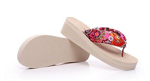 pengweiDamen Sommer Sandalen mit Fischgr?t Hausschuhe Verdickung Sohlen Strand Schuhe Clip F¨¹?e Hausschuhe 2