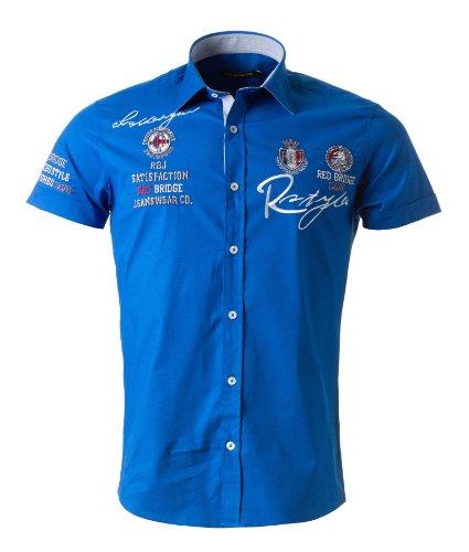 RBC Redbridge Herren Freizeit Kurzarmhemd saxe blue