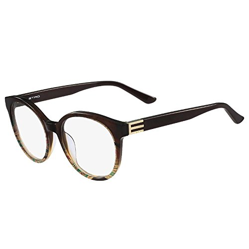 Etro occhiali da vista et2617 brown paisley donna