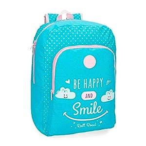 Roll Road 4322562 Happy Mochila Escolar, 44 cm, 19.6 litros, Azul