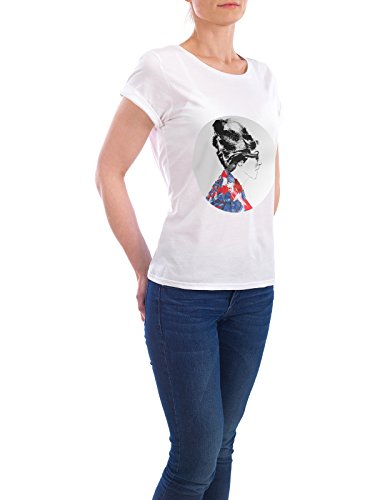 "Design T-Shirt Frauen Earth Positive ""Paris Fashion Darling I"" - stylisches Shirt Menschen Fashion von Sarah Plaumann Weiß"