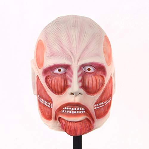 HBWJSH Halloween Kürbis Kopf Maske natürliche Umwelt Latex Muskel Mann Maske (Color : B) (Muskel Mann Kostüm Kind)