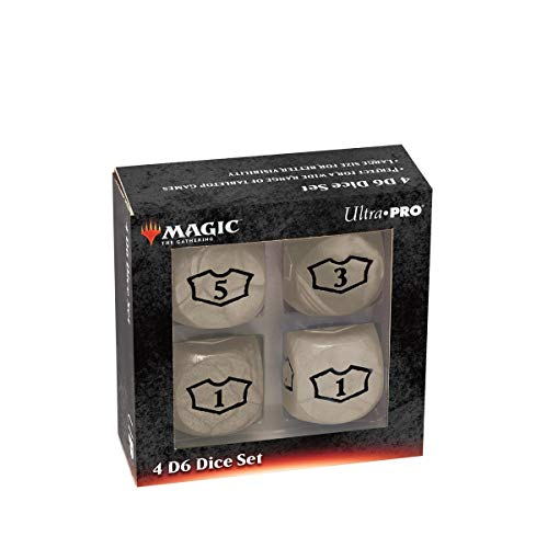Pro Dado-set (Ultra Pro Deluxe 22MM White Mana Loyalty Dice Set for Magic: The Gathering)