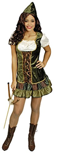 K31250590-36-38 Damen Robin Hood Kostüm Kleid Gr.36-38 (Girl Kostüm Jäger)