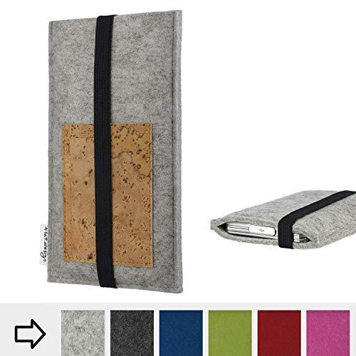flat.design Handy Hülle Sintra für Energizer P20 maßgefertigte Handytasche Filz Tasche Schutz Case Kartenfach Kork