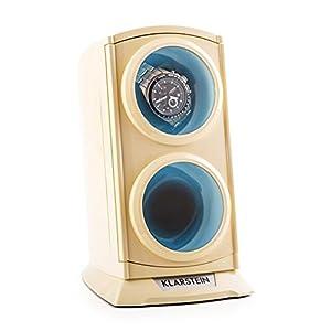 Klarstein St.Gallen Premium Uhrenbeweger, LED Beleuchtung, 3 Drehmodi, schwarz oder Creme