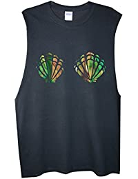 Rock Paper Sisters Unisex Muscle T-shirt With Mermaid Shells Image