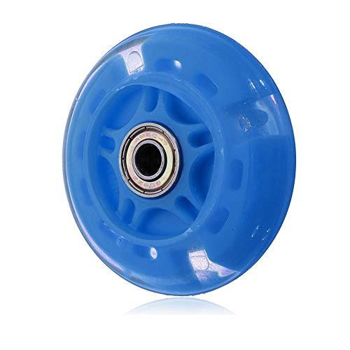 80Mm Led Flash Wheel Mini oder Maxi Micro Scooter Blinklichter Zurück Hinten Blau (Roller Spacer Bearing)