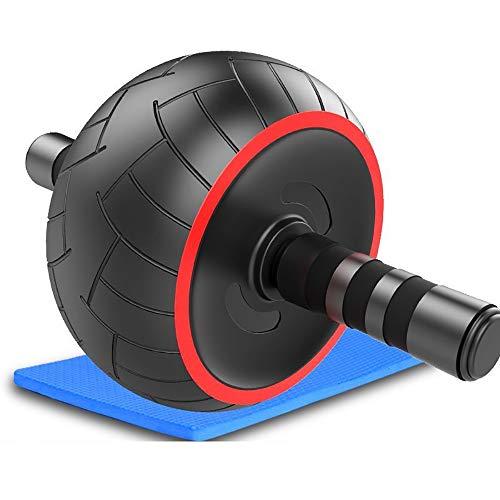 Good Times Ab Wheel, AB Roller mit breitem Rad, Bauchmuskeltrainer mit Knieauflage, Bauchtrainer mit Kniematte für Fitness, Bauchroller, Bauchmuskeltraining Muskelaufbau, Muskeltrainer (Rot, 20cm Rad)