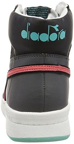 Diadora Basket 80 Act Scarpe Sportive, Unisex Adulto Grigio Castello/Rosso Cayenne
