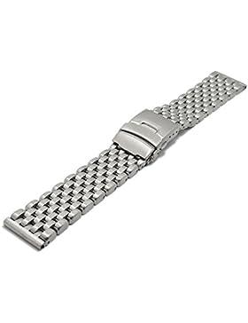 Meyhofer Uhrenarmband Trapani 24mm Edelstahl massiv gebürstet MyPlkmb3008/24mm/stahl