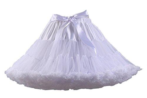 Aysimple Damen Puffy Chiffon Tütü Petticoat Tüllrock Unterrock Tüll Petticoats 50s Rock&Roll - Rock Und Roll Kostüm Frauen