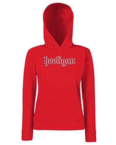 T-Shirtshock - Sweats a capuche Femme TUM0103 hooligan Rouge