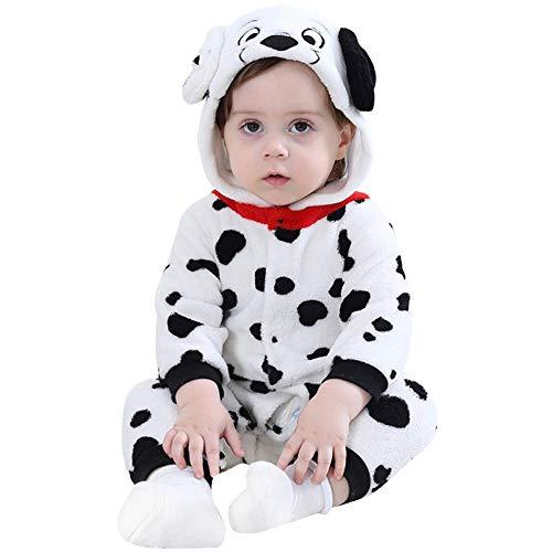 Unisex Baby Welpen Kostüm Kleinkind kuscheliger Flanellspielanzug Hoodie Strampler Pyjamas (12-24 Monate)
