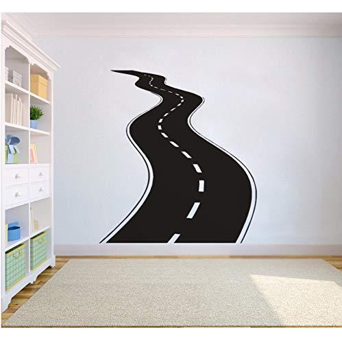 attoo Vinyl Wandaufkleber Reifenspuren Wandkunst Autobahn Weg Garage Wandbilder Neues Design Straße Stil Tapete 42x46 cm ()