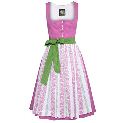 Hammerschmid Damen Trachten-Mode Midi Dirndl Pillersee in Pink traditionell