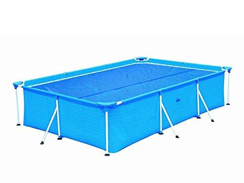 HAFIX Solarplane Cover für rechteckige Pools 549x274 cm - Planengröße 538x253 cm - Poolplane Solarabdeckplane Poolheizplane in blau
