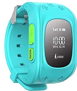 mobicell Kids Tracker Smart Wrist Watch Compatible with iBerry Auxus Nuclea N1 with GPS & GSM System with functions ( Children Safe Security/ SOS Surveillance/Pedometer / Remote Power Off/Alarms Anti-lost for Children) - Blue
