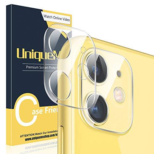 UniqueMe [2 pièces] Caméra Arrière Protecteur pour iPhone 11, [Dureté 9H] [Film HD] [Anti-Rayures],Verre trempé Protection écran pour iPhone 11