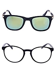 Amour-Propre Multicolor UV Protected Sunglass For Unisex- Pack Of 2 (AM_CMB_LP_1177)